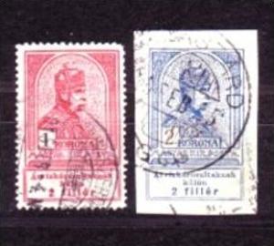 Ungarn Nr. 142-3   o  ( a9099  ) siehe scan