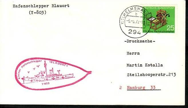 BRD Sammler Beleg Mariene /Schiffspost ....( ba6326 ) siehe scan
