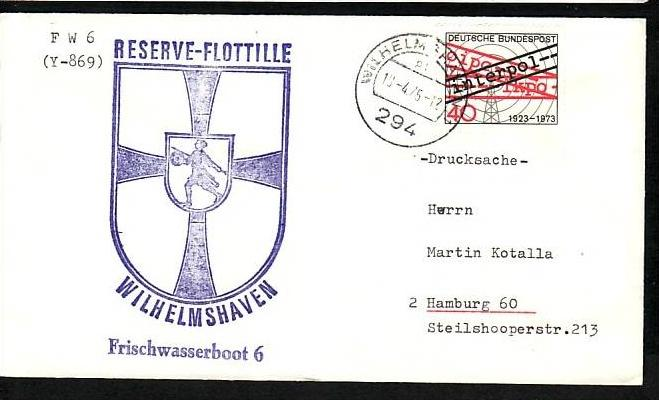 BRD Sammler Beleg Mariene /Schiffspost ....( ba6333 ) siehe scan