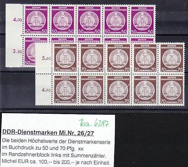 DDR Dienst Lot   ** (ba6287 ) siehe scan