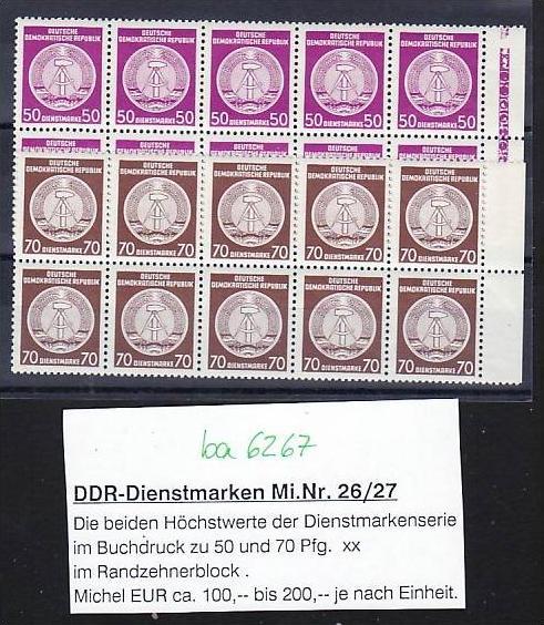 DDR Dienst Lot   ** (ba6267 ) siehe scan