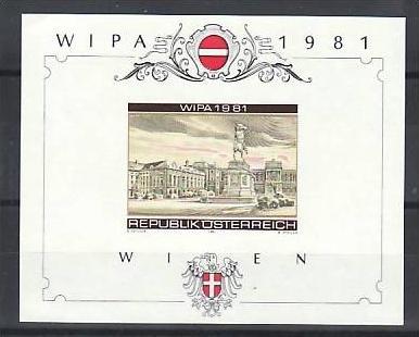 Österreich Block Wipa geschnitten ohne Werteindruck ? Probedruck    **( zz1660 ) siehe scan