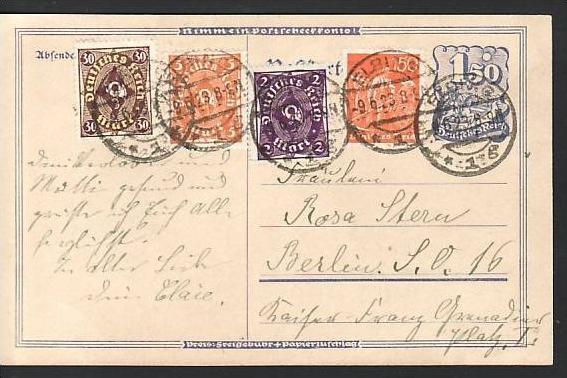 D.-Reich Infla -Firmenpost  Beleg  (ba6448 ) siehe  Bild