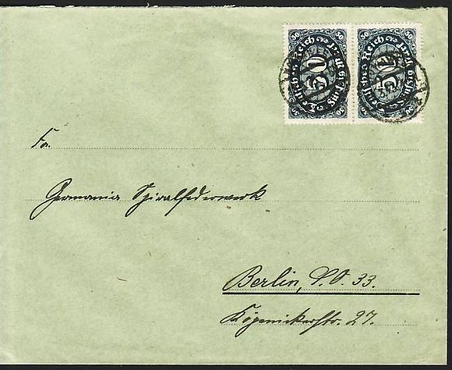D.-Reich Infla -Firmenpost  Beleg  (ba6451 ) siehe  Bild