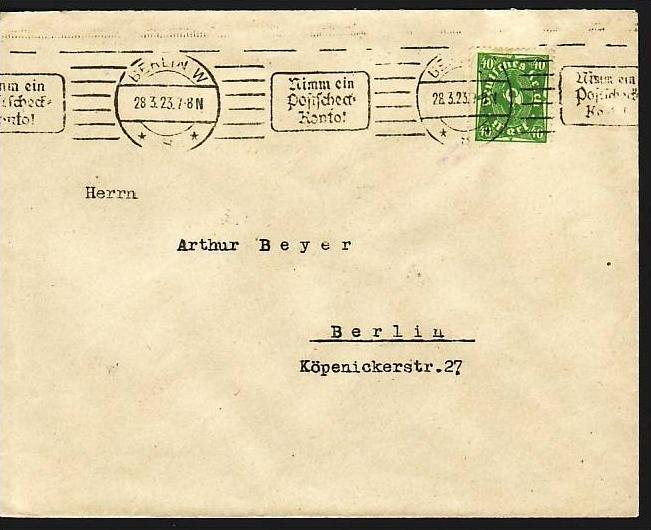 D.-Reich Infla -Firmenpost  Beleg  (ba6454 ) siehe  Bild