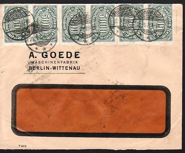 D.-Reich Infla -Firmenpost  Beleg  (ba6464 ) siehe  Bild