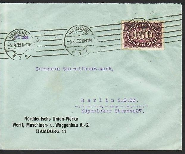 D.-Reich Infla -Firmenpost  Beleg  (ba6457 ) siehe  Bild