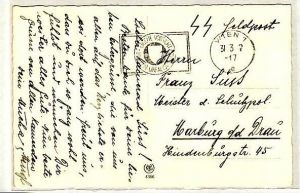 Feld Post Beleg -SS-Feldpost  (zz1957  ) siehe scan !!