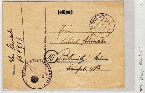 Feld Post Beleg - Einheit Werfer   m.Inhalt  (zz1953  ) siehe scan !!