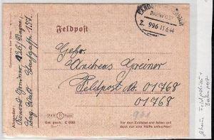 Feld Post Beleg - Geheime Feldpolizei+Bahnpost   (zz1950  ) siehe scan !!