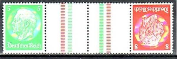 D.-Reich Zusammendruck  kz 21   */**  ( y4899 ) siehe scan