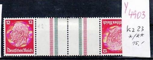 D.-Reich Zusammendruck  kz 23   */**  ( y4903  ) siehe scan