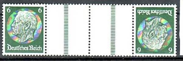 D.-Reich Zusammendruck  kz 22   */**  ( y4917  ) siehe scan