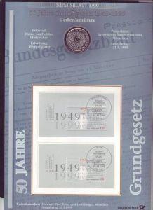 NUMISBLATT BRD 1/1999  Grundgesetz   (c2500) frische ABO Qualität
