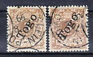 Togo  Nr. 1b+1c   (p3154  ) siehe scan