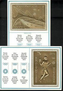 Olympia 1972  Sonderkarten im Golddruck    (ba7373  )  siehe scan