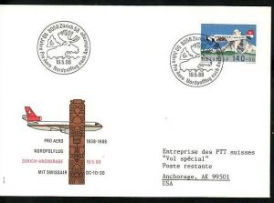 Schweiz Flugpost  Beleg    (ba7162 ) siehe scan  !