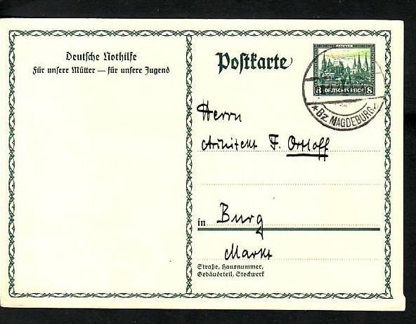 D.-Reich Ganzsache     (ba7186 ) siehe scan !!