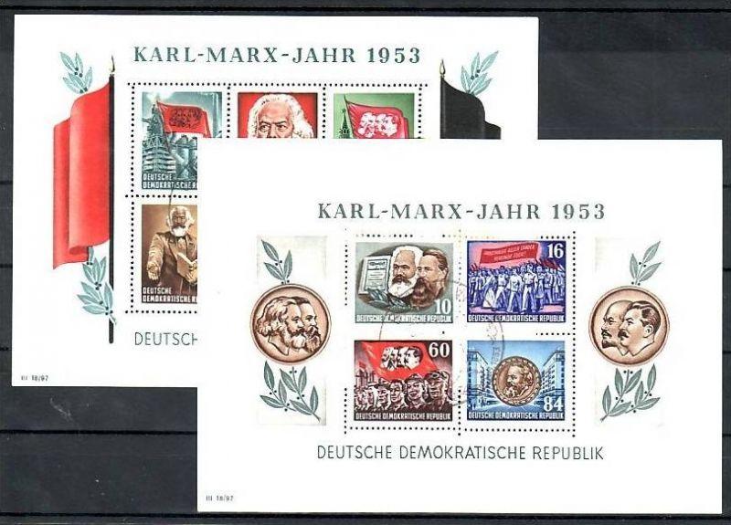 DDR Block 8/9 A+B Sonderstempel -Karl-Marx Jahr        (p3229 ) siehe scan !!