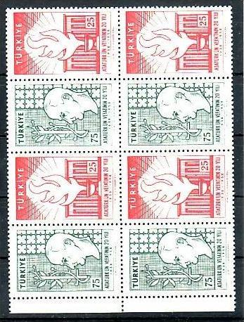 Türkei  Nr.  4x 1615-6   **  (zz2629  )  siehe scan  !!