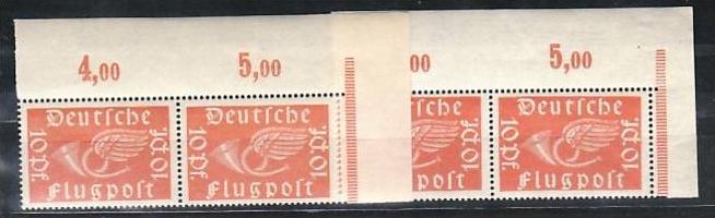 D.-Reich Nr. 2x 111 a+ b   **   ( y5708  ) siehe scan !