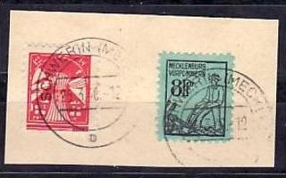SBZ  Nr. 14x+18Ib  o-Briefstück geprüft Kramp ( y5813 ) siehe scan !