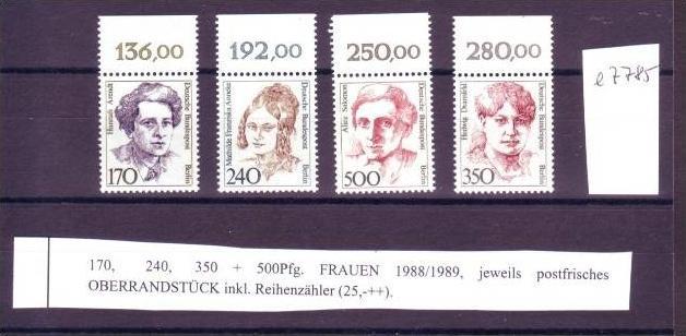 Berlin  Lot Frauen ** OR    ( e7785 ) siehe scan !