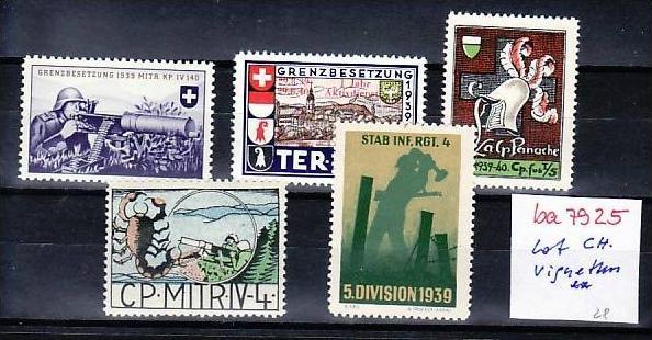 Schweiz  2 Soldaten Marken  Lot um 1940  **   ( ba7925  ) siehe scan !