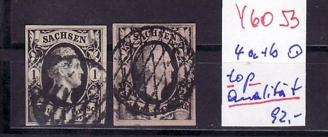 Schönes   Sachsen   Nr.4a+b   in sehr guter Qualität  (y6053  ) siehe scan -vergrößert !!