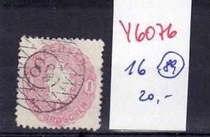 Sachsen Nr. 16  Stempel  89  o  (y6076   ) siehe scan !