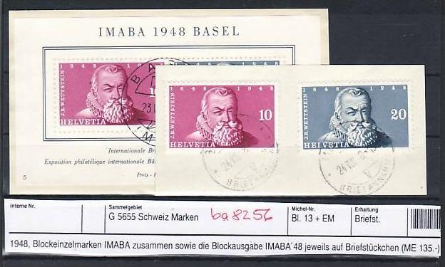 Schweiz   Block 13 + Block Marken  Sonder-  o   (ba8256  ) siehe scan vergrößert !