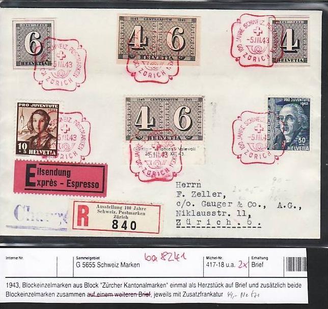Schweiz R Brief Mit Blockmarken Und Andere Ba8241 Siehe Scan