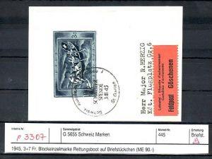 Schweiz  Marke aus Block  Kriegswaisen  o  (p3307 ) siehe scan