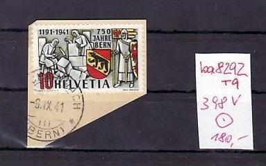 Schweiz  Nr. 398 V   Briefstück Attest   ( ba8292  ) siehe  scan !