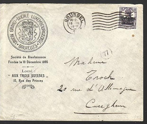 D Post In Belgien Dienst Brief Absender Klappe Fehlt Zz2851