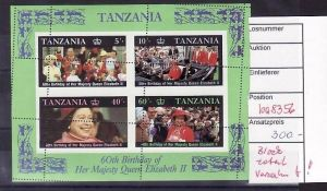 Tansania Block ABART  total verzahnt !! selten  !!  ** ( ba8356) siehe scan