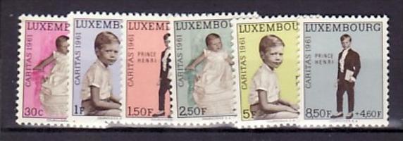 Luxemburg  Nr. 649-54   **  ( e7970  ) siehe scan   !