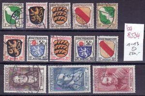 Franz.Zone   Nr. 1-13      o  ( ba8534 )