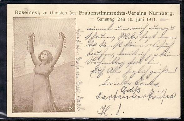 alte  Karte  Nürnberg Rosenfest      (ba8727  ) siehe scan  !