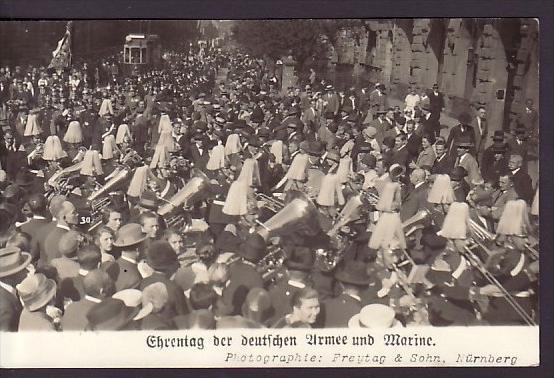 Militär+Mariene  Umzug Nürnberg ...... alte Karte  ( ba 8681  ) siehe scan  !!