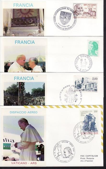Vatican Lot 8 Belege Papstreisen  (ba8806  ) siehe scan  !