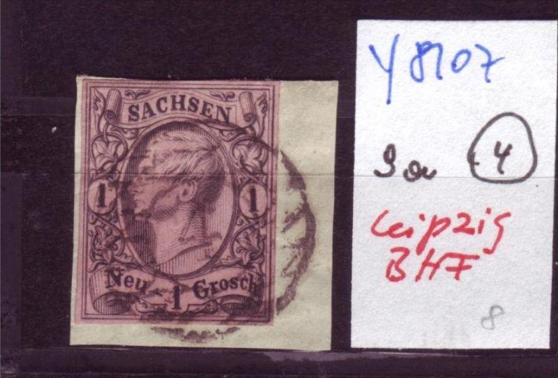 Sachsen  Nr. 9 -kleines Briefstück   (y8107    ) siehe scan vergrößert !