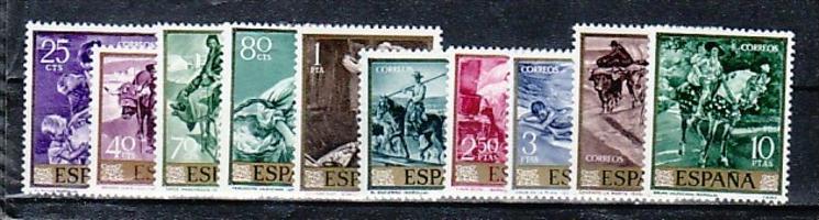 Spanien Nr.  1445-54   **  ( e8550 ) siehe scan  !