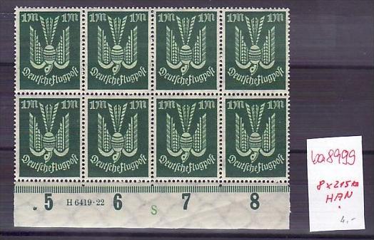D.-Reich   8x 215  **  HAN  (ba 8999 ) siehe scan !