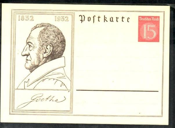 D.-Reich Karte  Gs Goethe  (ba9123 ) siehe scan !