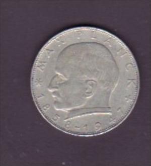 BRD  2,-D-Mark  Max-Planck  1958 G         (x 1505  ) siehe scan !