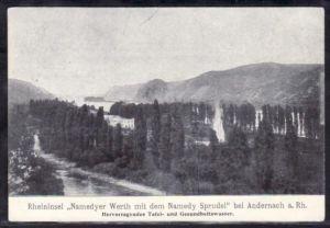 alte Karte  Werbung Sprudel Wasser    (da 2714 )  siehe Bilder !