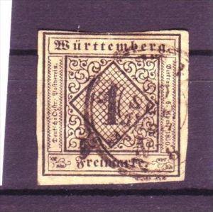 Würtemberg   Nr.  1 b    (y8845  ) siehe scan vergrößert !