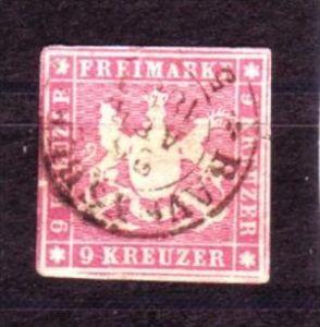 Würtemberg   Nr.  9    o    (y9096  )  siehe scan  !