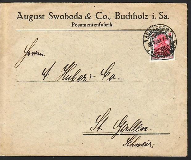 Germania Brief Nach Der Schweiz Bedarf Zz3962 Siehe Scan Nr